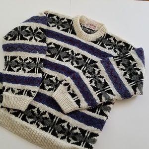 Vintage | Wool Crewneck Sweatshirt Chunky As Heck